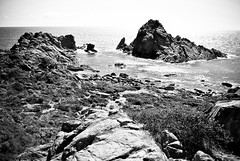 Sugarloaf Rocks (Sean Comiskey) Tags: summer blackandwhite seascape nature rock landscape photography nikon indianocean australia lookout sugarloaf margaretriver westernaustralia 2014 seancomiskey
