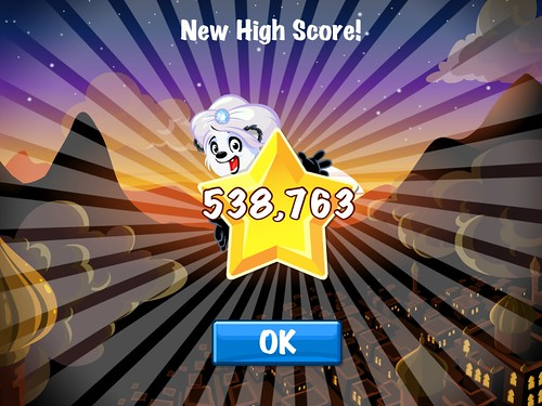 Diamond Dash High Score: screenshots, UI