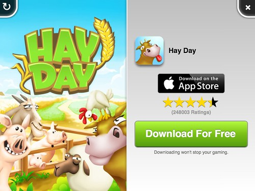 Hay Day Ads: screenshots, UI