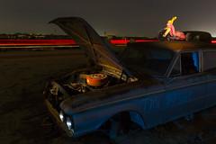 Crusin on the Big Wheel (Aztravelgrl (Forgotten Places Photography)) Tags: nightphotography abandoned valleyjunkyard