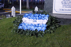 P1010996 (Enrique desde Nicaragua) Tags: blanco azul atardecer bandera nicaragua sábado puertosalvadorallende