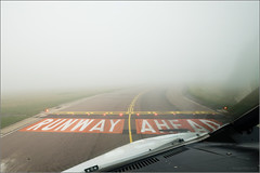 LVPs are in Force (1) (mikeyp2000) Tags: mist fog airport view low wide cockpit 12mm flightdeck luton visibility rvr sigma1224 procedures lvp a99 aprilfoolishness2014