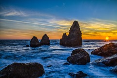 Rodeo Beach at Sunset (HavCanon.WillTravel) Tags: ocean sunset beach waves pacific rodeo hdr fdrtools rockstacks