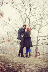 Before wedding 6 (Erica Gilbertson) Tags: november autumn trees wedding boy red portrait woman man black cold color men guy love nature colors girl canon outside outdoors happy glasses cool women hug kiss kissing couple colorful purple photoshoot sweden stockholm freezing swedish lilac redhair weddingday sthlm inlove canoneos5dmarkii 5dmarkii canon5dmarkii