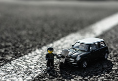 Busted (wizzer2801) Tags: trooper car toy pull star starwars lego over police ticket scout mini cop stormtrooper wars minifig