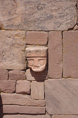 Tiwanaku, Bolivia (ARNAUD_Z_VOYAGE) Tags: chile door city sky sun white lake black peru titicaca face statue clouds america de landscape la site power pentax south capital paz bolivia pedro spanish pre empire western archaeological len moutains department altiplano andean kx columbian conquistador tiwanaku cieza