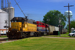 IORY 4008 West at Washington, IL 6-5-14 (BSTPWRAIL) Tags: railroad ohio america train washington illinois grain indiana rail railway io toledo western local extra peoria tpw gp402 gp40 railamerica iory