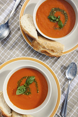 Tomato Soup (Emma Barkley) Tags: food project tomato photography soup book cookbook cook tasty homemade swirl uni pesto