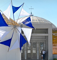 42nd annual oakland greek festival (pbo31) Tags: california blue white color church windmill festival greek oakland nikon religion may annual 42nd greekorthodox 2014 d90 lincolnhighlands greekorthodoxcathedraloftheascension oaklandgreekfestival