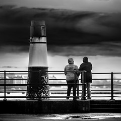 Watching A Storm (Mabry Campbell (2nd Account)) Tags: people blackandwhite bw storm clouds canon photography eos coast harbor photo skne europe photographer image sweden coastal photograph 100 sverige february scandinavia campbell malm f28 malmo 2012 fineartphotography mabry 200mm architecturalphotography skane commercialphotography editorialphotography architecturephotography ef200mmf28liiusm westernharbor editorialphotographer commercialphotographer fineartphotographer canoneos5dmarkii architecturalphotographer houstonphotographer architecturephotographer sec mabrycampbell february252012 mabrycampbellcom 201202252452