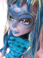 Nyx (Kate's Creations) Tags: art face up monster cat mexico skull high doll paint artist dolls ooak cam sugar mexican 16 re create mh juanita mattel catgirl nyx sugarskull repaint faceup createamonster