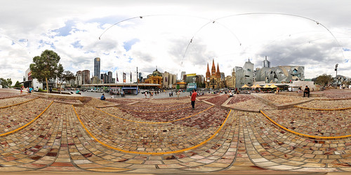 Melbourne Federation Square - Panorama