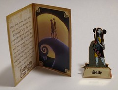 Disney Pin Purchases - 2014-05-22 - Happily Ever After Mystery Pin - Sally - Pin and Story Card - Card Open (drj1828) Tags: mystery us pin disneyland sally collection purchase limitededition nightmarebeforechristmas firstlook happilyeverafter disneypintrading le500