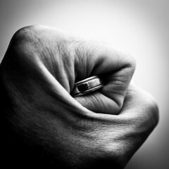 Hand 6 (mph1966) Tags: blackandwhite bw abstract canon square gold iso100 hand finger fingers gray sigma 11 ring fist 7d 20mm 365 grayscale tight conceptual weddingring f4 2018 project365 sigma2018 180seconds canon7d