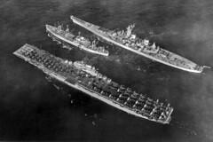 USS Antietam (CV-36), USS Ranier (AE-5) and USS Wisconsin (BB-64) (skyhawkpc) Tags: airplane dragonfly aircraft aviation navy h corsair naval panther usnavy usn carrier usswisconsin bb64 f4u4 skyraider detd ussranier ae5 ad4 ussantietam vc35 f4u5n hu1 vc11 f9f2 cv36 f9f2b ho3s1 ad4w cva36 vc61 cvg15 vf713vultures vf831mohicans vf837 va728 ad4l ad4q vc3bluenemesis f9f2p ad4nl
