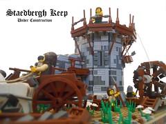 Staedbergh Keep (JP_Creations) Tags: castle construction lego crane guild moc