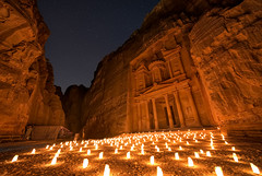 Petra By Night (TheFella) Tags: mountain mountains slr rock night digital stars religious temple photography star photo sandstone rocks candles desert muslim islam religion petra treasury middleeast courtyard astro unesco worldheritagesite arabic jordan nighttime photograph arab astrophotography valley lanterns gorge nomad dslr pillars jordanian islamic bedouin maan thetreasury petrabynight rosecity nabataean wadimusa hashemitekingdomofjordan alkhazneh roseredcity  kingdomofjordan nabataeans   thefella valleyofmoses aroseredcityhalfasoldastime     conormacneill jebelalmadhbah  thefellaphotography almamlakahalurdunyahalhshimyah