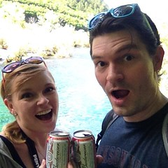 We found #Chinese #Budweiser! Perfect way to finish a day of hiking in #jiuzhaigou