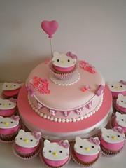 Torta y Cupcakes (Pastelera Bakery Shop) Tags: hello cake cupcakes kitty palmademallorca pasteles islasbaleares pastelesdecorados pastelesdecoradospalmademallorca