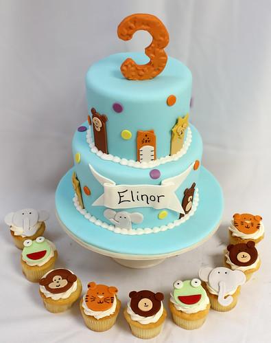 Party Animal Cake & Cupcakes