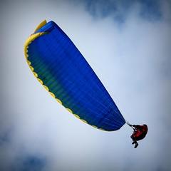 Gower, June 2014. (johnny the cow) Tags: wales bay coast flying long path south cymru flight coastal gower distance peninsula microlight parachute rhossili parascending llwybr gwyr arfordir penrhyn advancech