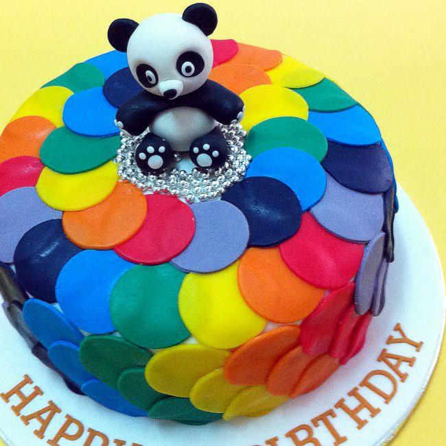 Fondant 3D Baby Panda Cakes For Kids KL JB Penang Birthday Cake Delivery