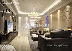 Thiết kế nội thất phòng khách tân cổ điển_006