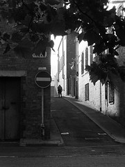 Perry Street (Towner Images) Tags: perrystreet toxteth liverpool seftonstreet l8 merseyside scouse towner townerimages shadow bw blackandwhite monochrome morning sunlight glow shortcut commuter worker urban silhouette copyright mono greyscale monochromatic