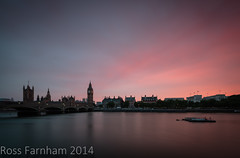 Glowing (Photo Lab by Ross Farnham) Tags: sunset london westminster thames big nikon ben d800