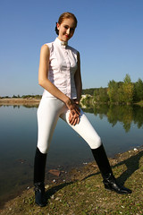 Natalie 05 (The Booted Cat) Tags: sexy girl spurs boots riding jodhpur ridingboots equestrienne