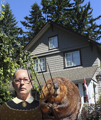 196/365 Canadian Gothic (ruthlesscrab) Tags: canada garden gardening canadian beaver tool wah day196 werehere gardentools grantwood hereios 3652014 365the2014edition 07152014 pitchfork