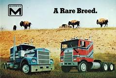 Marmon Conventional and C.O.E. Trucks (aldenjewell) Tags: truck dallas texas postcard conventional coe marmon