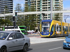 The G: Opening Day ! (TimBo's pics) Tags: bus surfersparadise bombardier goldcoast surfside doubledeckers theg aquaduck bustech flexity2