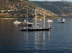 Maltese Falcon reflections (PhillMono) Tags: cruise reflections ship yacht super olympus falcon sail carlo monte maltese e30 mega