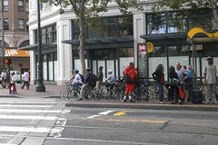 the sf commuter races (citymaus) Tags: sf sanfrancisco bike cycling market commute bikelane marketst bikelanes sfbike cycleinfrastructure