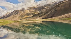 The lake of the moon (Sourabh Gandhi) Tags: street light shadow music moon india lake reflection art trek photography moments play view awesome fine images gandhi intriguing sg trevel sourabh himalyas chandratal sabbyy