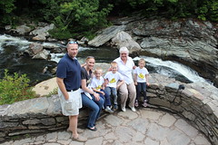 IMG_7477 (drjeeeol) Tags: triplets 2014 5yearsold vacation nc northcarolina conference asheville waterfall mountains chaz jill charlie katie will grandma meemaw 2pa