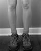 In Her Shoes: Merrell Hiking Boots (vphill) Tags: merrell hikingboots boots ilford 4x5 largeformat fp4 chamonix45n1 chamonix nikon210mmf56nikkorw 210mm nikon film