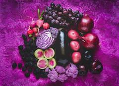 purple produce (auntneecey) Tags: purpleproduce grapes radishes onions potatoes watermelonradishes blackberries plums purplecauliflower eggplant cabbage 365the2017edition 3652017 day79365 20mar17