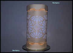 Paper Lamp Tube Curved Folding - Art Deco Design Cut Out 1/2 (NeoSpica / NeoLiveArt) Tags: origami kirigami folding fold cut cutting cutout decor decorative hyperboloid tessellation tessellated corrugated corrugations make making structure papersculptures paperstructure design papierfalten lampshade paperlantern paperfold papercut curved pleat pleating pleatinglamp light ornament art craft papercraft lamp curvedfolding curvedfold