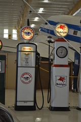 Vintage gas pumps (rritter78) Tags: vintage gas pump visible frontier texaco american mobil