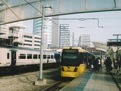 UK Manchester tram & class 158 (onewayticket) Tags: tram transport metrolink bombardier m5000 bombardierm5000 film zenit 12xp zenit12xp sirius sirius2828 canoscan9000f