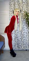 2b (Jessica_Ai) Tags: girl trap longhair highheels tights miniskirt blackhair makeup teen transsexual slut crossdressing girly crossdresser sissy transvestite necklace prostitute whore girlish femme tgirl prostitution feminine womanly tranny indoor cd callgirl blonde ponytails