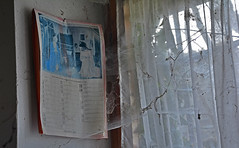 residential building PD02 #9 (jourbexia) Tags: decay decayed decaying derelict dereliction abandoned disused empty europe european urbex urbanexploration urban exploration building buildings rural ruralexploration architecture house houses italy italian interior inside home homes window calendar 25years 25 curtain curtains net nets netcurtain netcurtains cobweb cobwebs cob web webs 1991