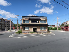 In downtown Schenectady, a view of the former Club Illusion and its extensive surroundings. (Tim Kiser) Tags: 2016 20160829 argyleplace august august2016 capitaldistrict capitalregion churchstreet clubillusion fullerstreet img8284 mohawkvalley newyork newyorkstate railroadstreet schenectady schenectadycounty schenectadycountynewyork schenectadynewyork southchurchstreet bar barsign building buildings closedbar closedbusiness closednightclub club downtown downtownschenectady easternnewyork easternnewyorkstate electriclines electricpoles expanseofpavement forcedtoclose forcedtoclosebythegovernment formerbar formernightclub illusion lostitsliquorlicense martini martiniglass mostlysunny nightclub nightclubsign noparkingarea noparkingzone overheadelectriclines overheadpowerlines paved pavement pavementmarkings powerlines shutdownbythegovernment sign telephonepoles upstatenewyork utilitypoles whitestripes windows unitedstates