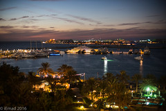 The joy of being by the sea... (EHA73) Tags: noctiluxm109550asph leica leicamp typ240 nightphotography shoreline sea boats sunset evening night travel dubai uae yacht seaview