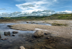 No Buses (Karl Ruston) Tags: ocean reflections sea outdoor landscape yorkshire rocks sands beach