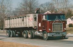 Mack Cruiseliner, dump trailer (PAcarhauler) Tags: mack cabover coe truck tractor trailer semi