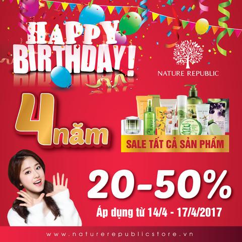 HAPPY BIRTHDAY NATURE REPUBLIC - BIG SALE UP TO 50%