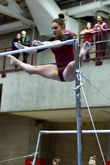 DU Gymnastics - Sam Ogden (brittanyevansphoto) Tags: collegegymnastics ncaagymnastics denvergymnastics unevenbars releasemove straddle hecht